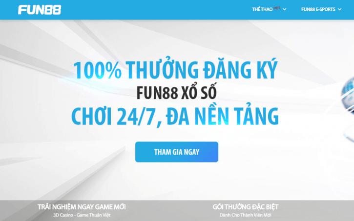 Khuyến mãi 100% cho thành viên mới Fun88