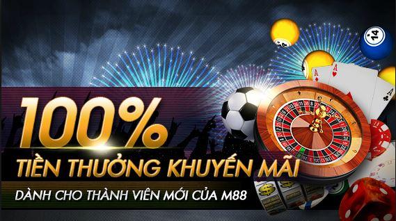 Khuyến mãi của nhà cái M88 100% dành cho thành viên mới