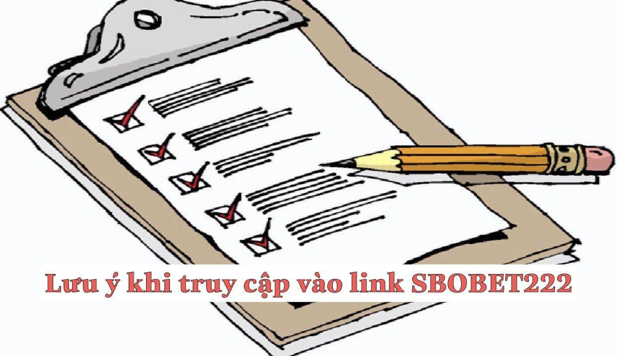 Lưu ý khi truy cập link sbobet222